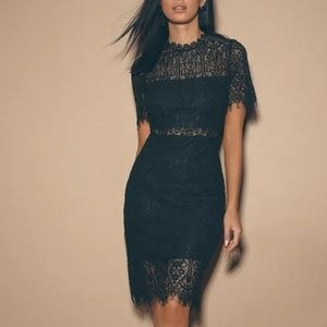 Lulu's Lace Little Black Dress